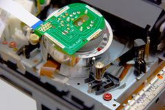Electronic spare part head VCR. The electronic spare part head VCR Royalty Free Stock Images