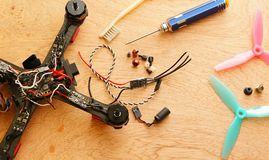 Drone - Electronic speed control ESC replacing after crash Royalty Free Stock Images