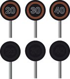 Electronic speed warning signs Stock Images