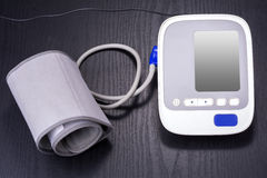 Electronic sphygmomanometer Royalty Free Stock Image