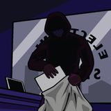 Electronic store robbery Stock Photos