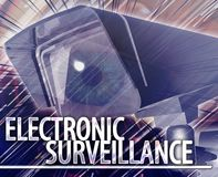 Electronic surveillance Abstract concept digital illustration Royalty Free Stock Images