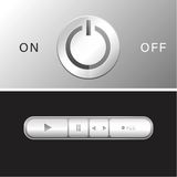 Electronic switch vector. Electronic button switch vector illustration Royalty Free Stock Photography
