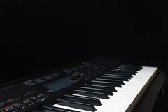 Electronic synth on black background Stock Photography