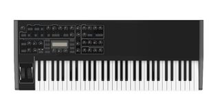 Electronic Synthesizer Piano Keyboard Isolated. On white background. 3D render Stock Photography