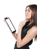 Electronic tablet touch pad Stock Photo
