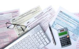 Electronic Tax Fing royalty free stock photo