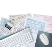Electronic Tax Fing royalty free stock photos