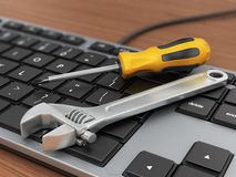 Electronic technical support concept. Royalty Free Stock Images