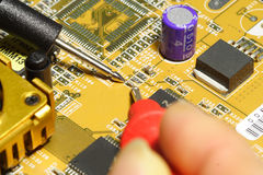 Electronic technician stock photography