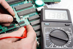 Electronic technician Stock Images