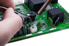 Electronic technician work Stock Image