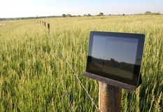 Electronic technology in agricultural setting royalty free stock images
