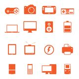 Electronic technology device icon complete collect Stock Photography