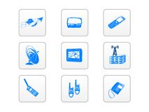 Electronic technology icons Stock Image