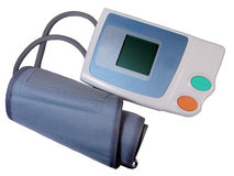 Electronic tensiometer. Over white Stock Images