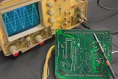 Electronic test Stock Image