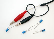 Electronic test leads. Stock Photography
