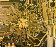 Electronic texture. The electronic printed-circuit board, abstract background stock photography