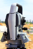 Electronic theodolite. Equipment surveyor Stock Photography
