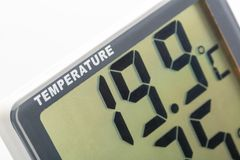 Electronic thermometer closeup Stock Images