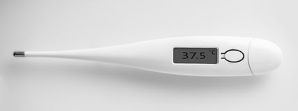 The electronic thermometer closeup Royalty Free Stock Photo