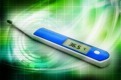 Electronic thermometer Stock Images
