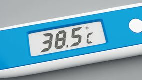 Electronic thermometer 3d animation High-definition stock video