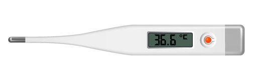 Electronic thermometer Stock Photography