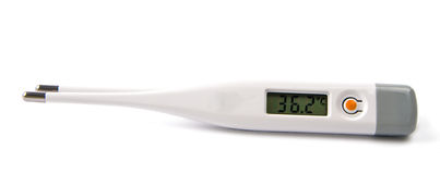 Electronic thermometer isolated Stock Photos