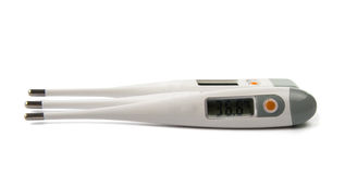 Electronic thermometer isolated Royalty Free Stock Images