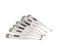 Electronic thermometer isolated Royalty Free Stock Image
