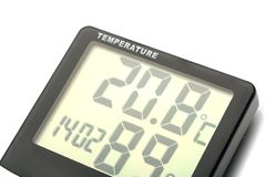 Electronic thermometer Royalty Free Stock Image