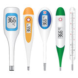 Electronic thermometers Royalty Free Stock Image