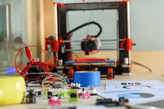 Electronic three dimensional plastic printing stock photos
