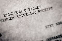 Electronic ticket Stock Images
