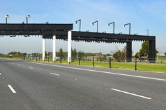 Electronic toll gate Stock Image