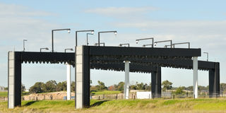 Electronic toll gates stock image