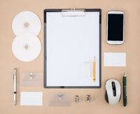 Electronic tools in every day life, smart phone and mouse Royalty Free Stock Images
