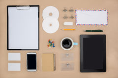 Electronic tools in every day life, smart phone tablet Royalty Free Stock Image