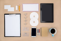 Electronic tools in every day life, smart phone tablet Royalty Free Stock Photos