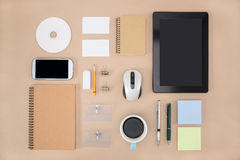Electronic tools in every day life,  tablet notebook Stock Photos