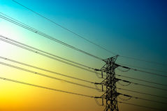 Electronic tower Royalty Free Stock Photography