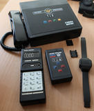 The electronic tracking bracelet convicted. St. Petersburg, Russia - April 26 2012: Presentation of the electronic bracelet and tracking system for  convicted Royalty Free Stock Photo