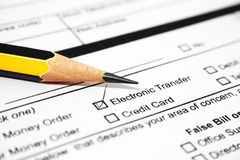 Electronic transfer Stock Images