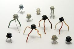 Electronic transistors Royalty Free Stock Photos