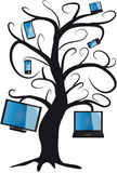 Electronic tree. An illustration of electronic tree Royalty Free Stock Photography
