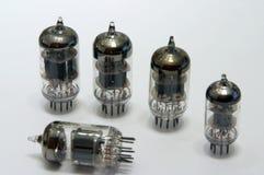 Electronic tubes. Old electronic tubes stock image