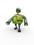 Electronic Turtle. 3d render of electronic turtle robot Royalty Free Stock Image