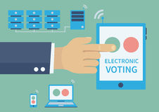 Electronic voting concept stock illustration
